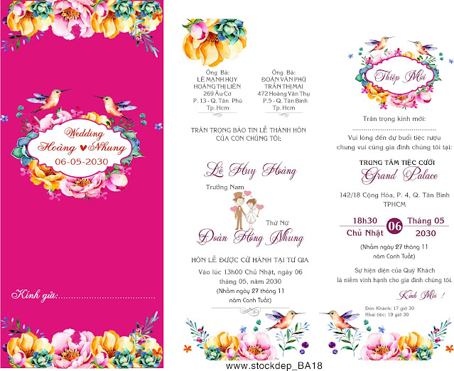 Wedding stationery with watercolor
