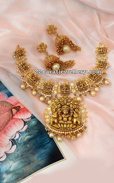Lakshmi Necklace by Vaibhav Jewellers