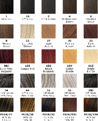 fashion red hair color chart