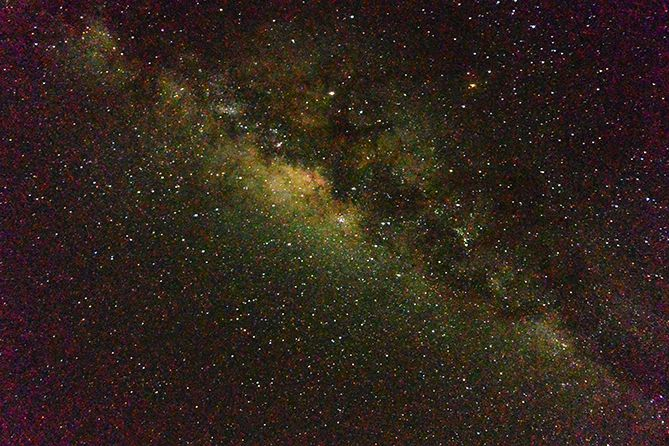 Kembali memotret Milky Way