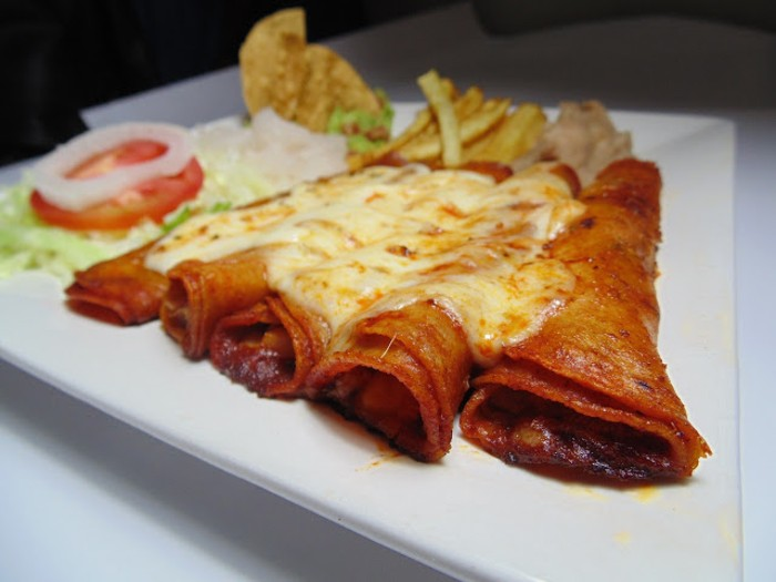 Red Chile Beef Enchiladas