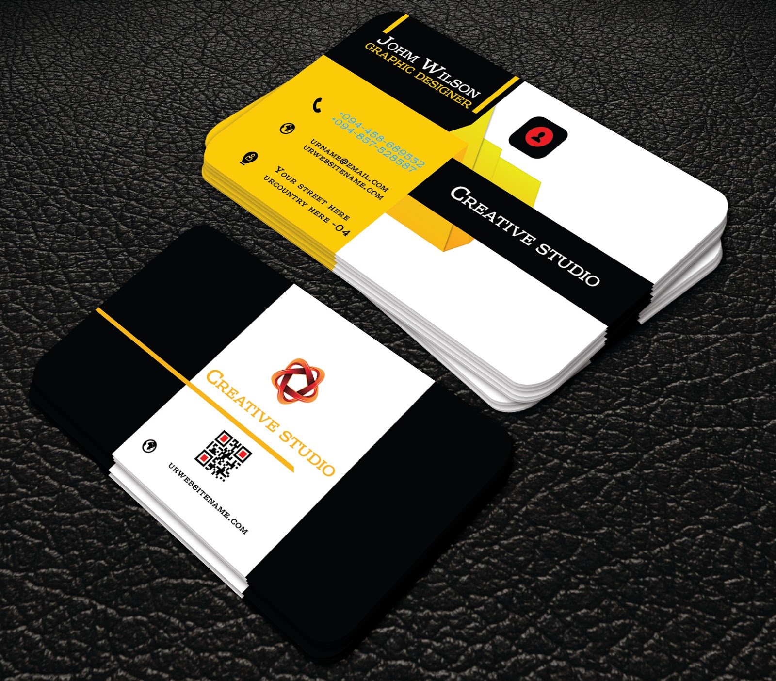 Professional yello colour business cards professional business free download red and black colour professional business cards this is a business card this template download contains 300 dpi print ready cmyk wajeb Gallery