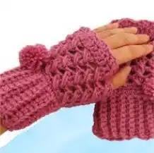 Mitones rápidos de tejer a Crochet