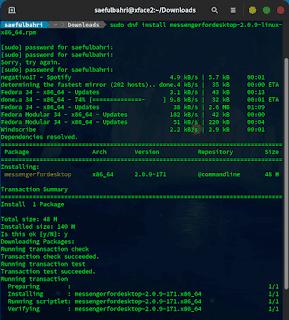Installasi Messenger for Desktop