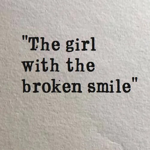 the girl with broken smile DP