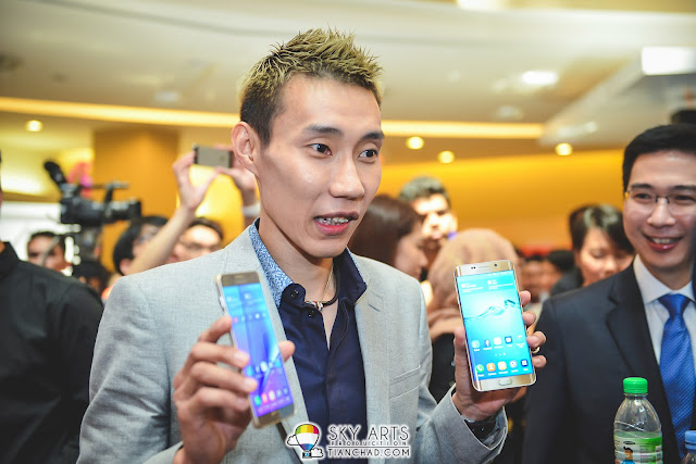 Dato'lee Chong Wei is present at Note 5 launch as well