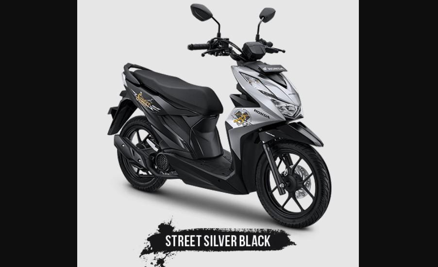 honda beat street silver black
