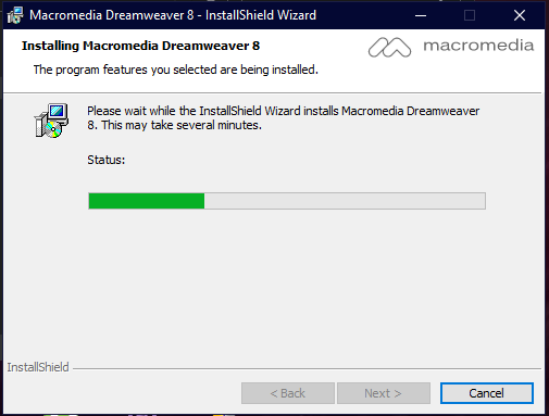 Installing Macromedia Dreamweaver 8