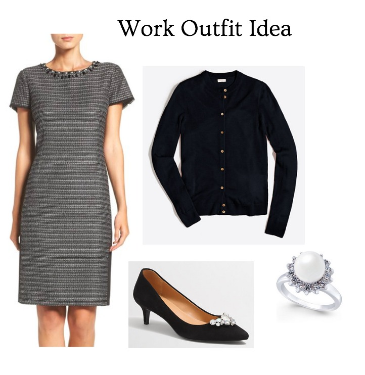tweed nordstrom shift dress with suede jewelled kitten heels