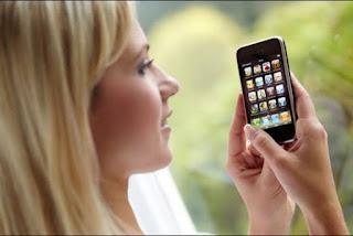 Posisi pandangan mata dengan smartphone