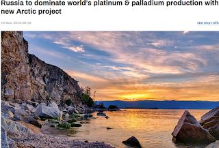 러시아 세계 백금 (플라티늄) 및 팔라듐 시장 50% 이상 장악