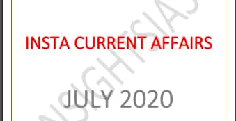[Compilation] InsightsIAS Current Affairs July 2020 Pdf Download