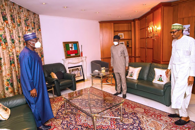 #EndSARS: President Buhari meets with National Assembly leaders