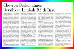 Chevron Commits to Clean B3 Waste in Riau