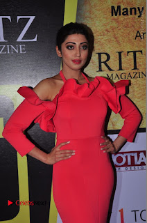 Actress praneetha Stills in Red Long Dress at South Scope Lifestyle Awards 2016 Red Carpet  0070.JPG