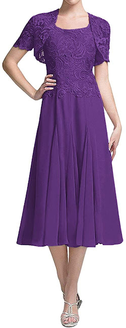 Beautiful Purple Mother of The Bride Dresses