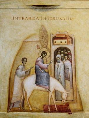 ''Entry into Jerusalem'' · Romanian by Gabriel Toma Chituc St. Byzantine Icons, Byzantine Art.