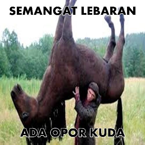 Meme Lebaran Kuda
