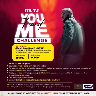 Dr. Tj Opens ''You Found Me Challenge'' (For Singers and Musicians) || @officialdrtj