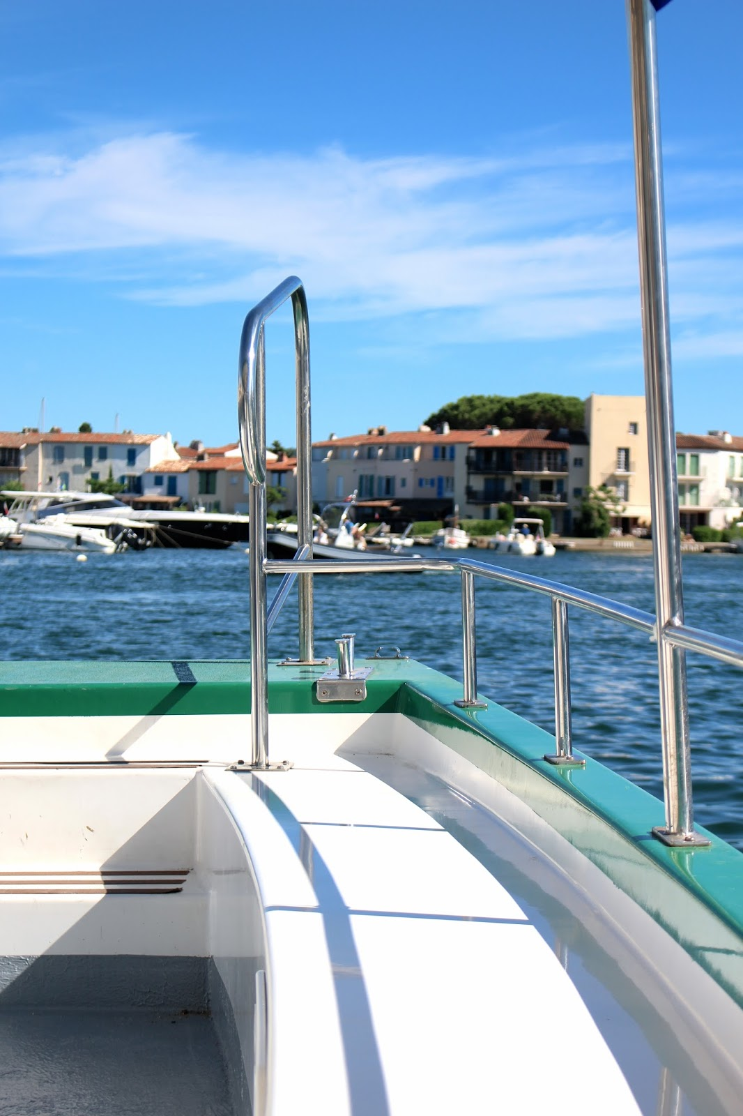 Summer boat ride through Port Grimaud