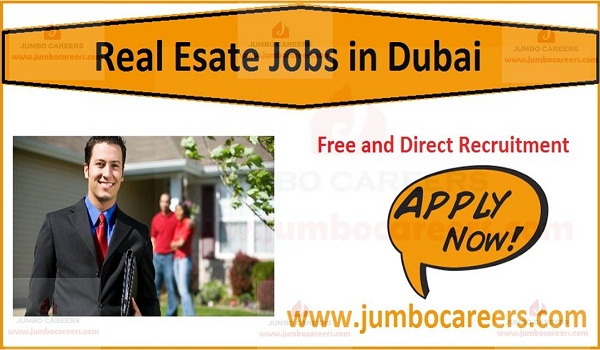 Recent real estate jobs in Dubai,