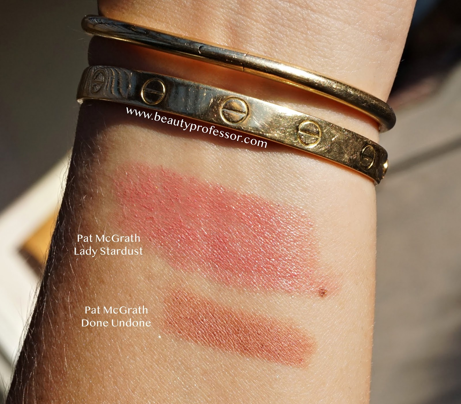 Pat McGrath lady stardust  lipstick swatches