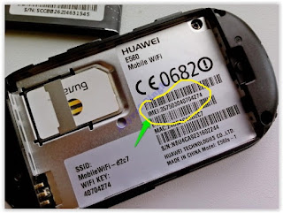 IMEI number - under battery