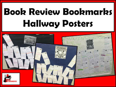 Free book review bookmarks for book critiques. Brought to you by Heidi Raki of Raki's Rad Resources.
