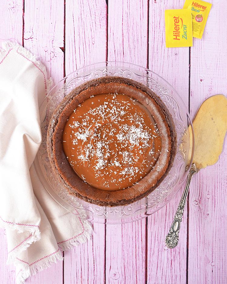 Cheesecake de chocolate sin azúcar
