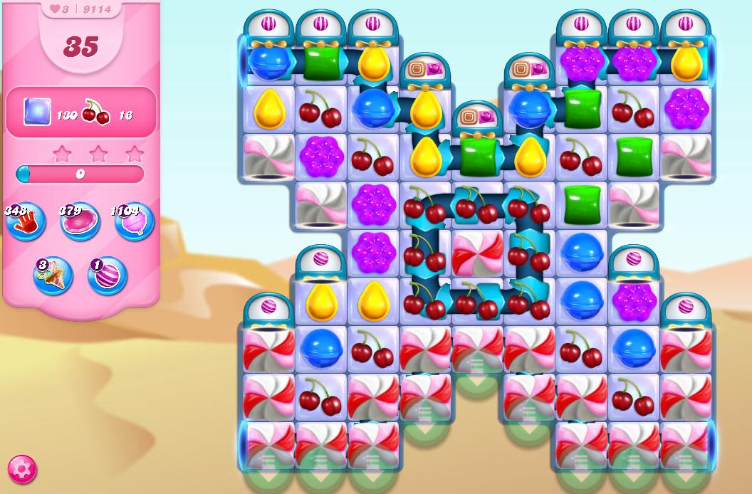 Candy Crush Saga level 9114