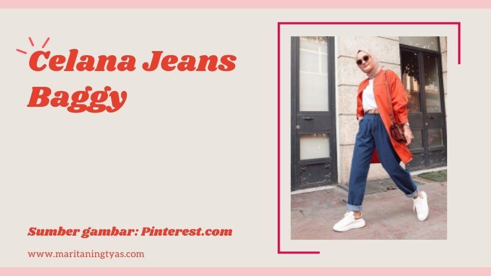 celana jeans baggy kece
