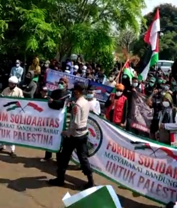 Berita KBB Aksi Solidaritas Palestina di Kabupaten Bandung Barat