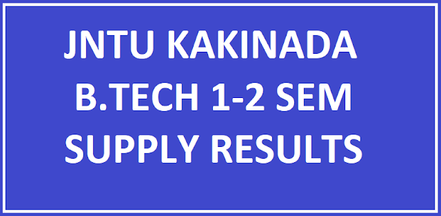 JNTUK B.Tech 1-2 Supply Results