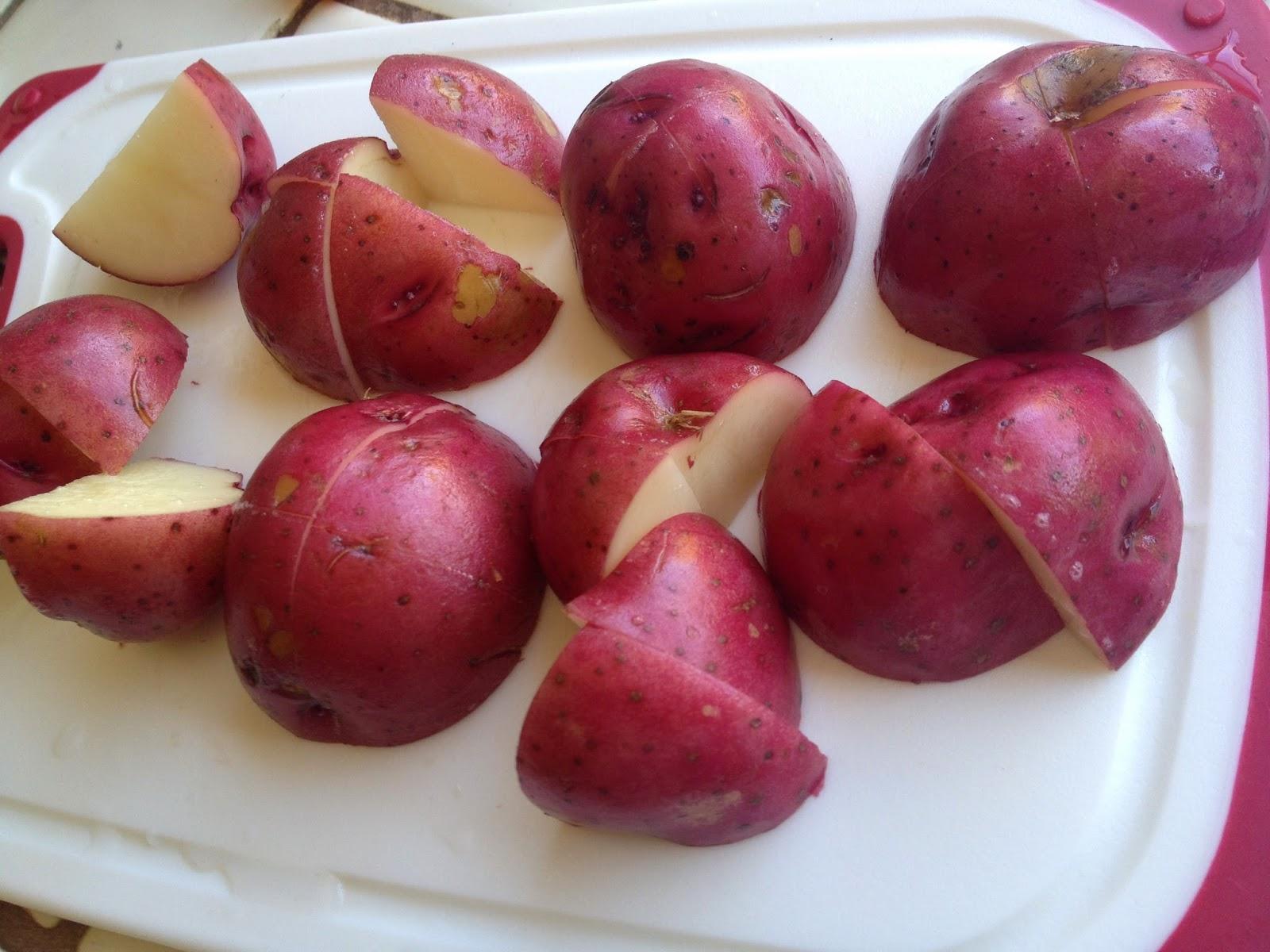 red potatoes fresh cut