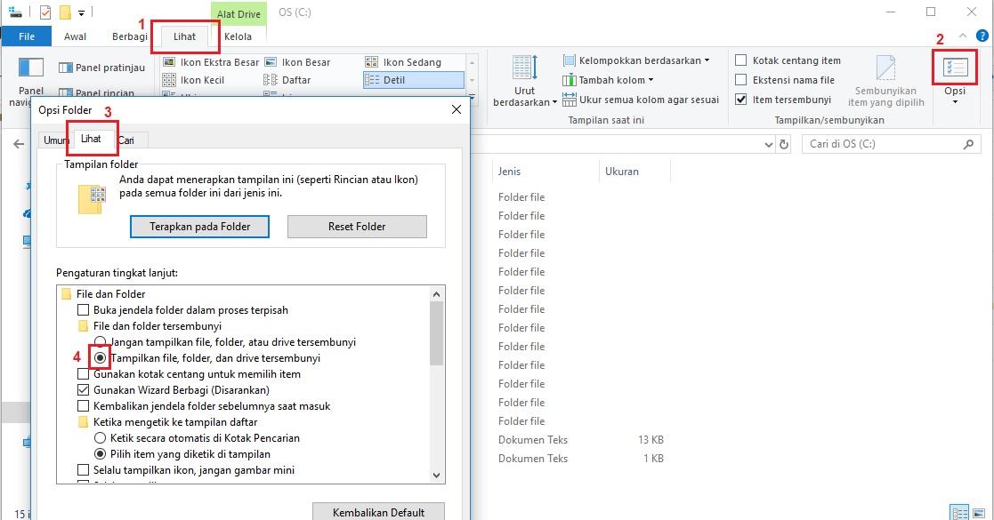 Mengembalikan Folder dan File yang Hilang Oleh Virus
