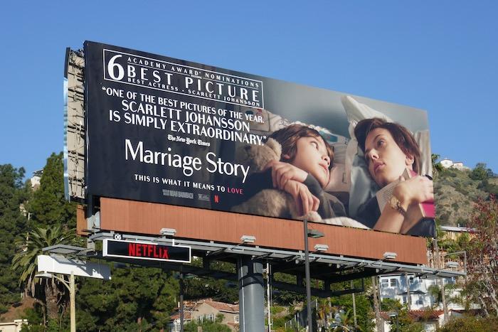 Marriage Story Oscar nominee billboard