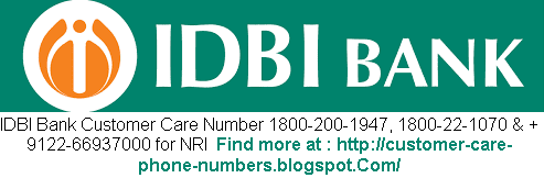 IDBI Bank Online Technical Support Number India