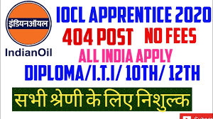 Indian Oil Corporation Limited (IOCL) Recruitment for 404 Trade Apprentice Apply Online @iocl.com /2020/06/IOCL-Recruitment-for-404-Trade-Apprentice-Apply-Online-iocl.com.html