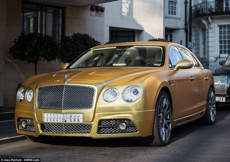 Saudi Arabian Billionaire Flaunts 163 1m Worth Of Gold Cars