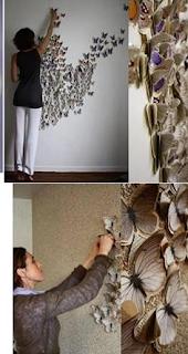 Duvarlara Kelebek Süsleme Yapımı 2