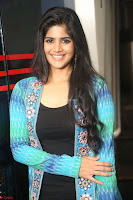 Megha Akash in a beautiful Anarkali dress with Long Jacket at LIE success meet ~  Exclusive Celebrities Galleries 017.JPG