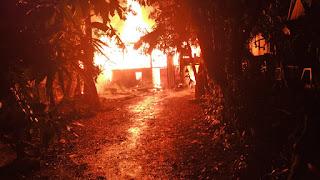 Kebakaran di Kampung Lejang Pangkep Hanguskan Satu Rumah dan Satu Unit Sepeda Motor