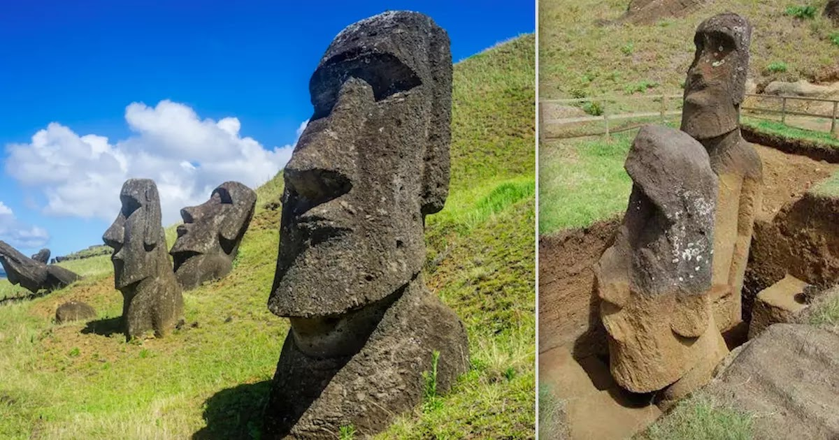 Did You Know That The Moai Head Statues Of Easter Island Have Bodies Buried Underground?