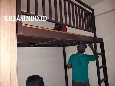 Mezzanine Besi pesanan Bu Ester di Apartement Podomoro Golf View Bojong Nangka Gunung Putri Bogor