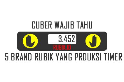 produsen timer speedcubing rubik