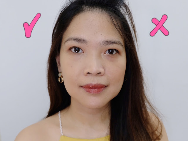 Before and after photo of NARS Pure Radiant Tinted Moisturizer Review By Nikki Tiu of askmewhats.com