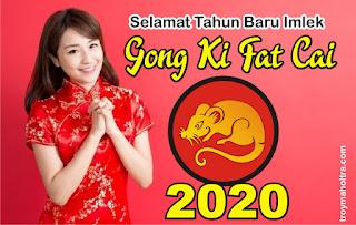 Sepanduk Tahun Baru Imlek 2020
