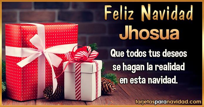 Feliz Navidad Jhosua
