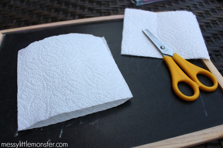 Magic paper towel art for kids