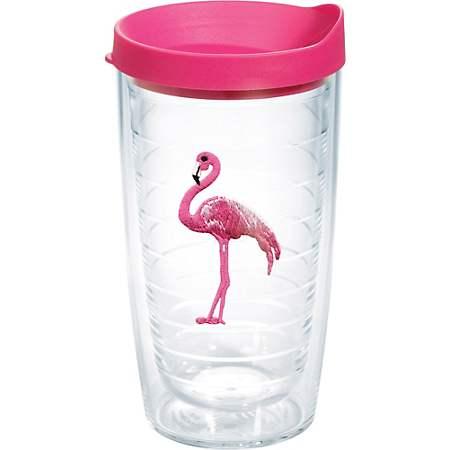 tervis tumbler flamingo 16 oz travel tumbler
